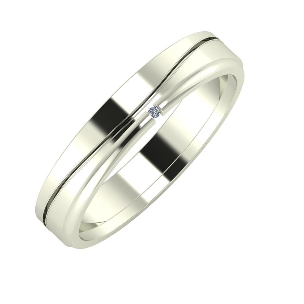 Adelinda - Adalind 4mm 18 karátos fehér arany karikagyűrű