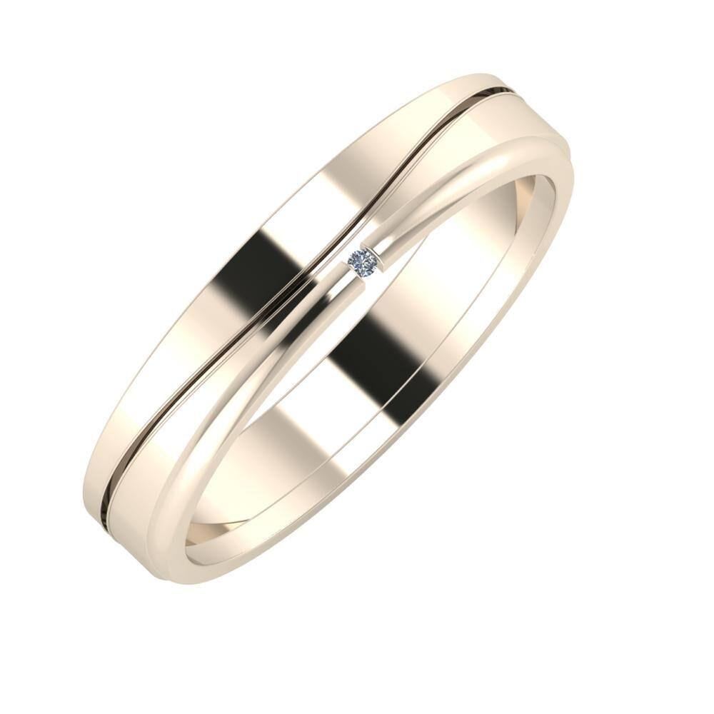 Adelinda - Adalind 4mm 22 karátos rosé arany karikagyűrű