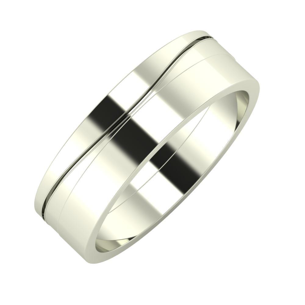 Adelinda - Adela 6mm 18 karátos fehér arany karikagyűrű