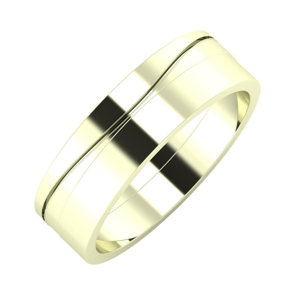 Adelinda - Adela 6mm 22 karátos fehér arany karikagyűrű