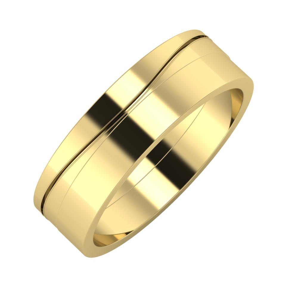 Adelinda - Adela 6mm 14 karátos sárga arany karikagyűrű
