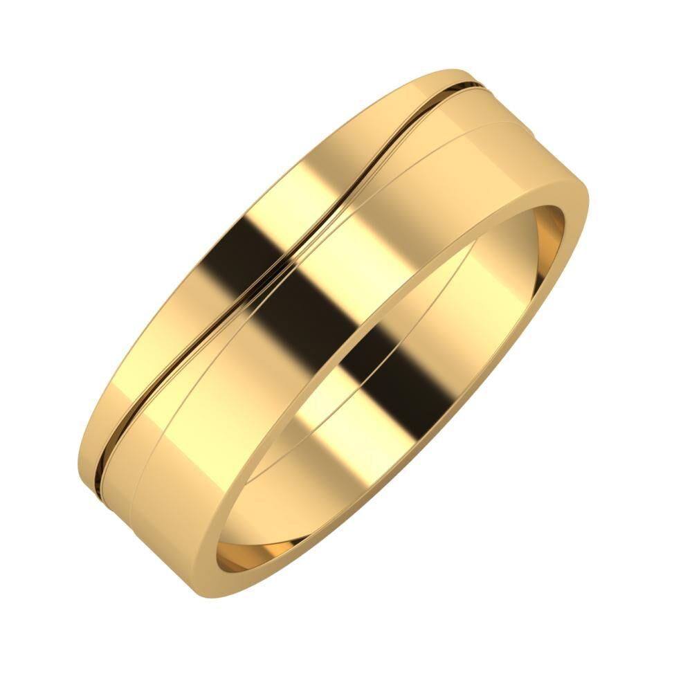 Adelinda - Adela 6mm 22 karátos sárga arany karikagyűrű