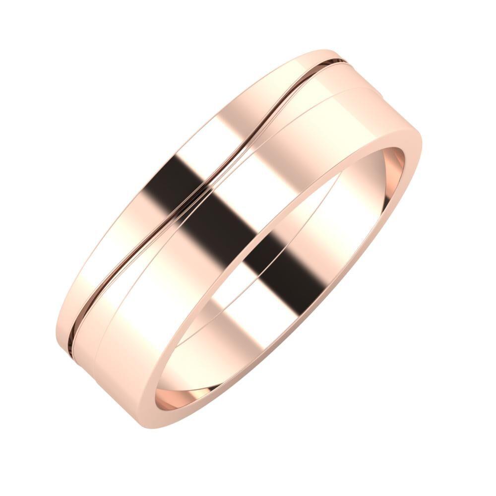 Adelinda - Adela 6mm 14 karátos rosé arany karikagyűrű
