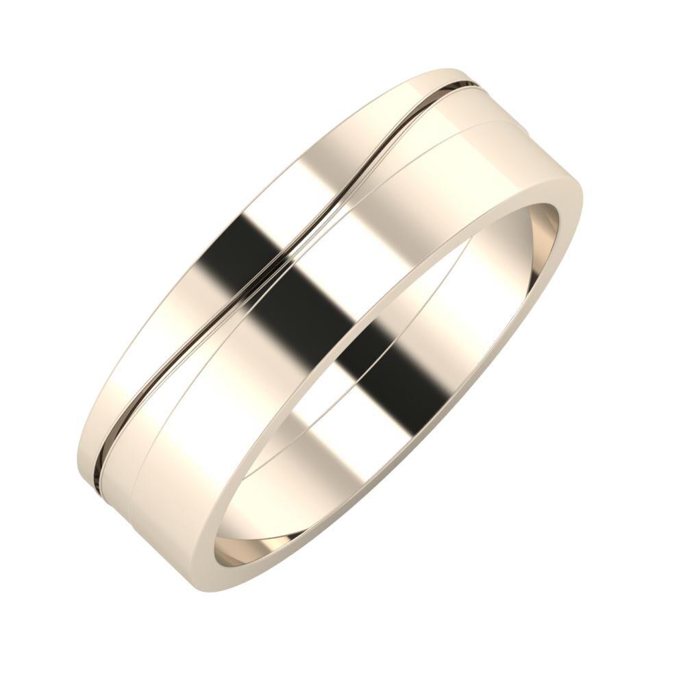 Adelinda - Adela 6mm 22 karátos rosé arany karikagyűrű