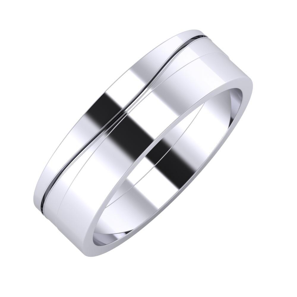 Adelinda - Adela 6mm platina karikagyűrű