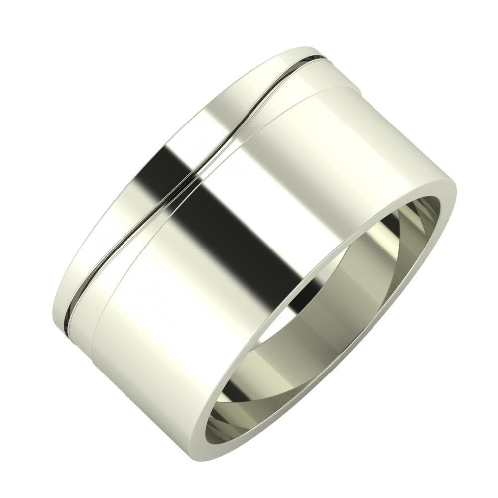 Adelinda - Adela 10mm 14 karátos fehér arany karikagyűrű