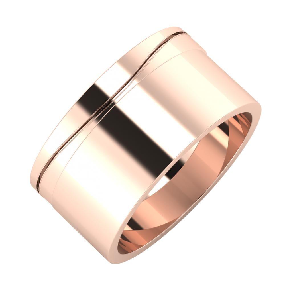 Adelinda - Adela 10mm 18 karátos rosé arany karikagyűrű