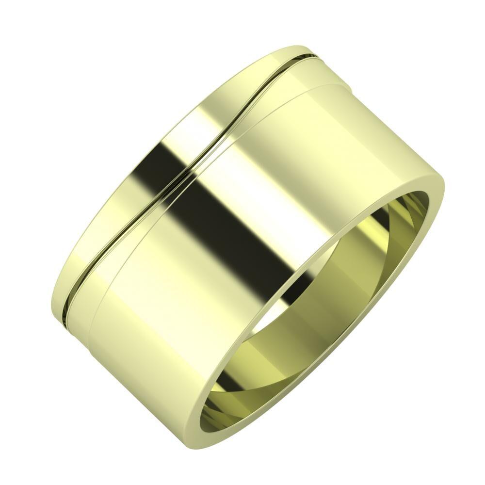 Adelinda - Adela 10mm 14 karátos zöld arany karikagyűrű