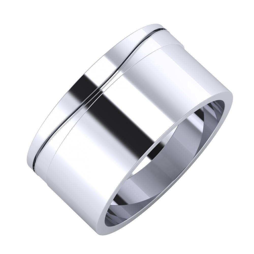 Adelinda - Adela 10mm platina karikagyűrű
