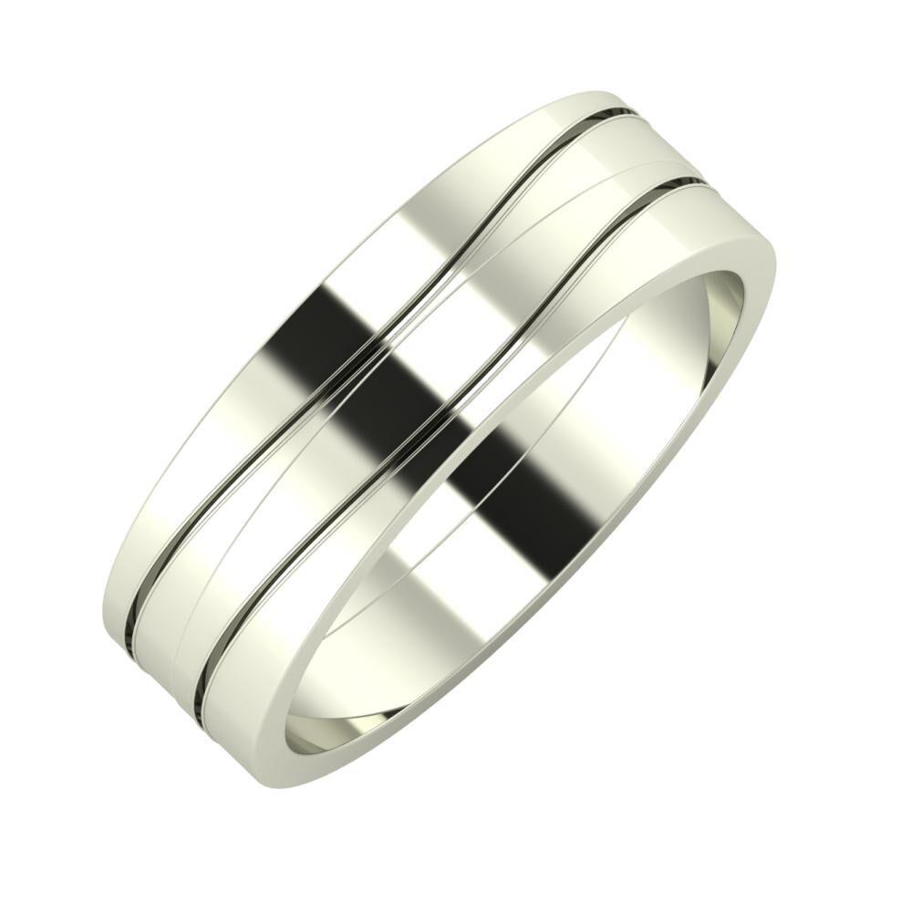 Adelinda - Adelinda 6mm 14 karátos fehér arany karikagyűrű