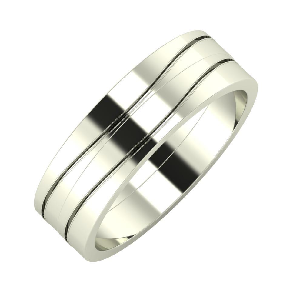 Adelinda - Adelinda 6mm 18 karátos fehér arany karikagyűrű