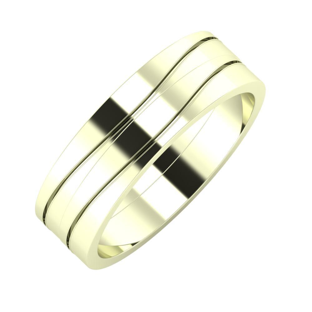 Adelinda - Adelinda 6mm 22 karátos fehér arany karikagyűrű