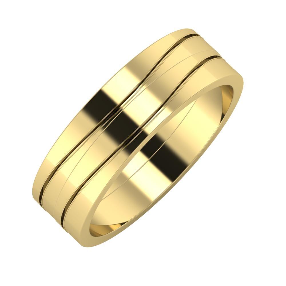 Adelinda - Adelinda 6mm 14 karátos sárga arany karikagyűrű