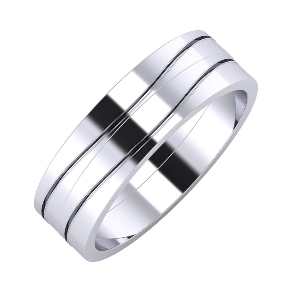 Adelinda - Adelinda 6mm platina karikagyűrű