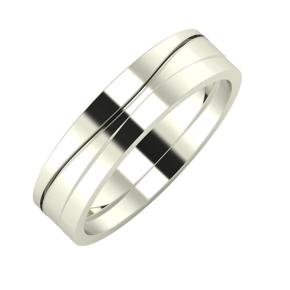 Adelinda - Adria 5mm 14 karátos fehér arany karikagyűrű