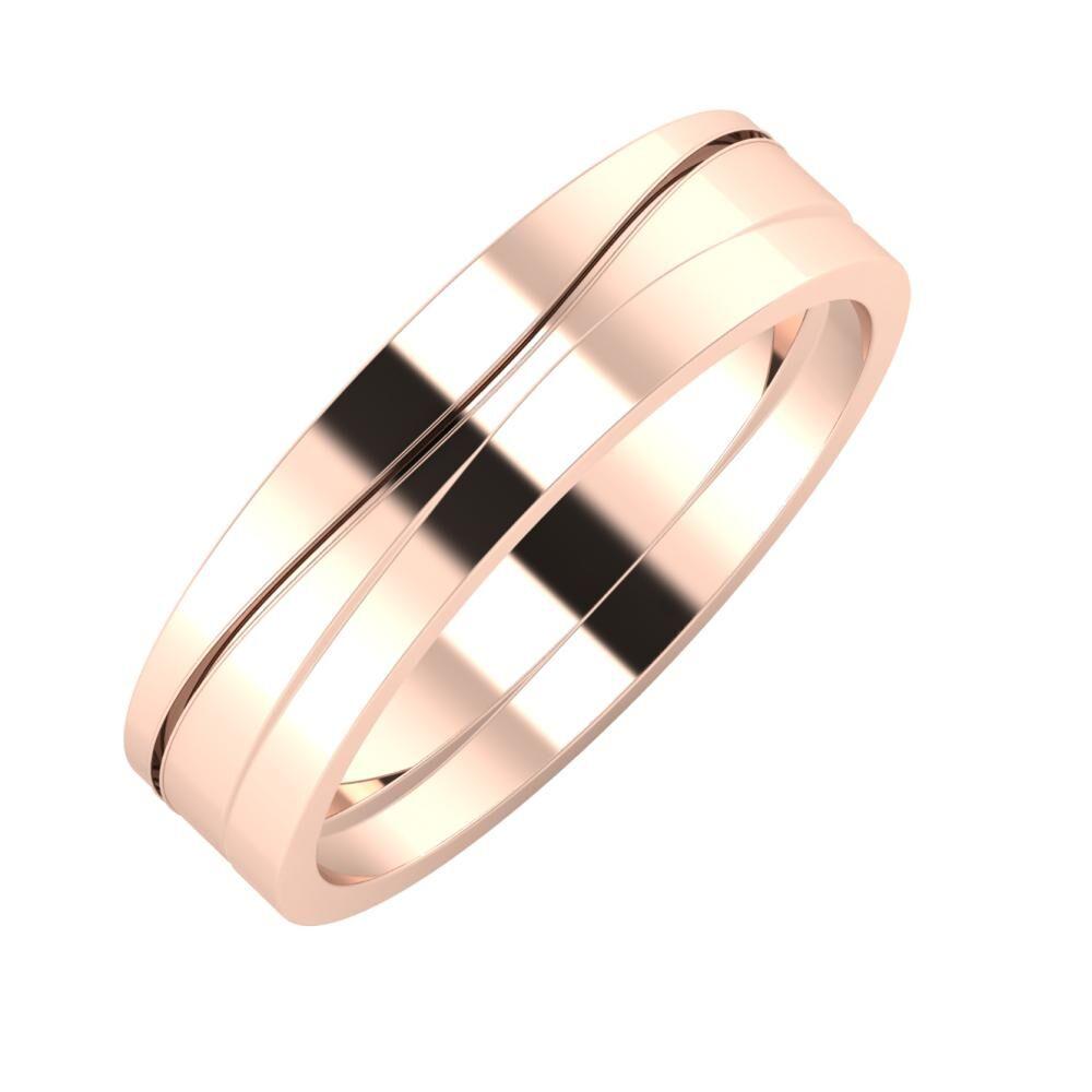 Adelinda - Adria 5mm 18 karátos rosé arany karikagyűrű