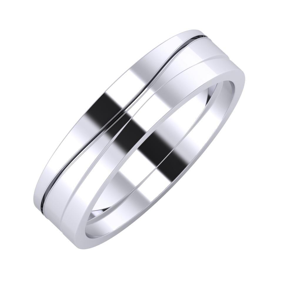 Adelinda - Adria 5mm platina karikagyűrű