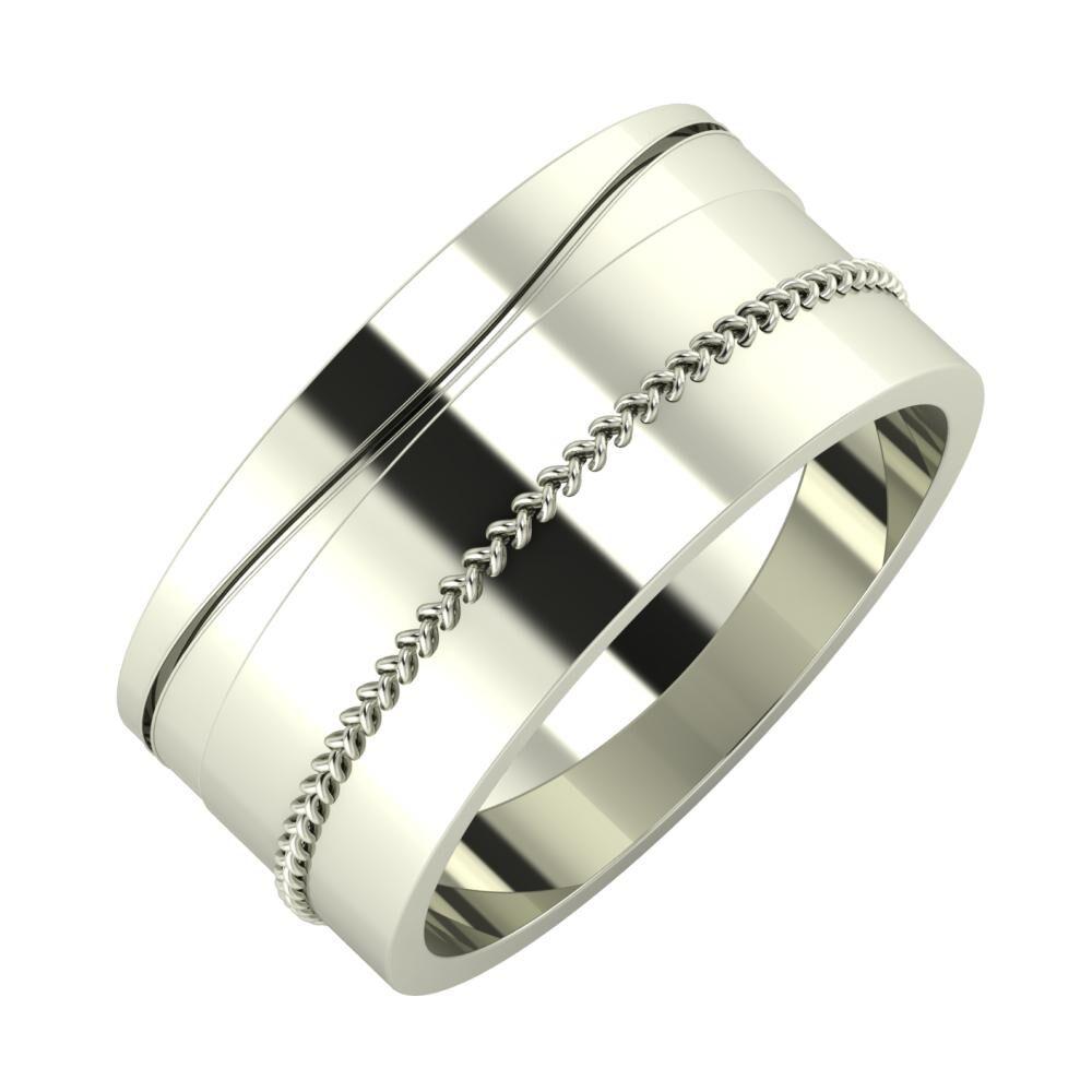 Adelinda - Áfonya 9mm 14 karátos fehér arany karikagyűrű