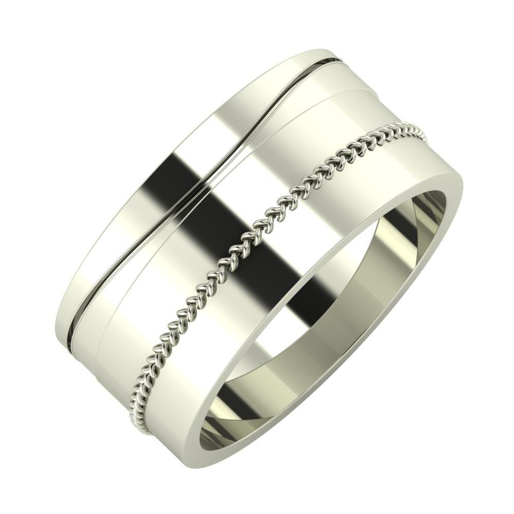 Adelinda - Áfonya 9mm 18 karátos fehér arany karikagyűrű