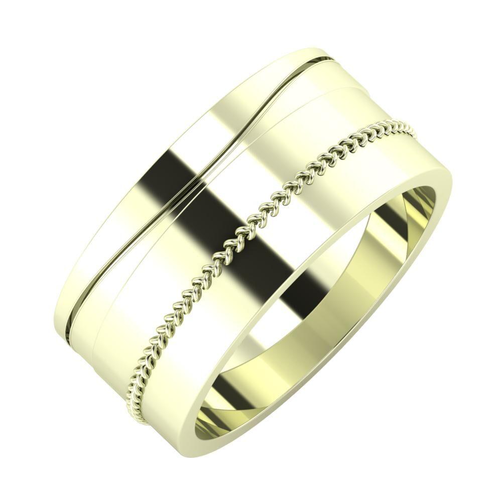 Adelinda - Áfonya 9mm 22 karátos fehér arany karikagyűrű