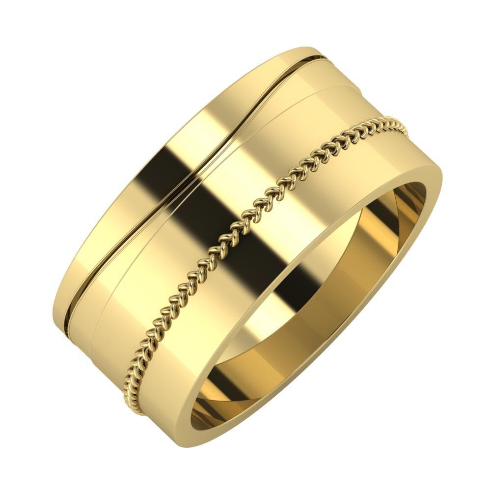 Adelinda - Áfonya 9mm 14 karátos sárga arany karikagyűrű