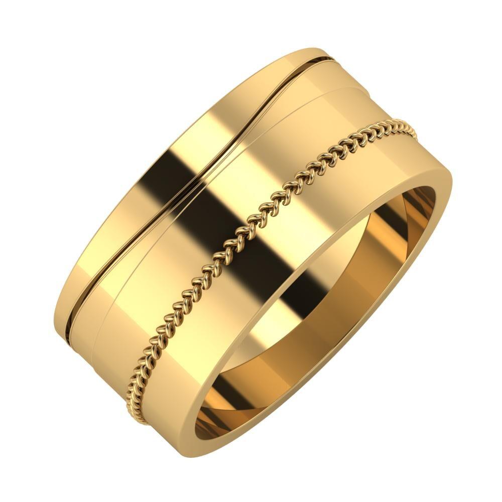 Adelinda - Áfonya 9mm 18 karátos sárga arany karikagyűrű