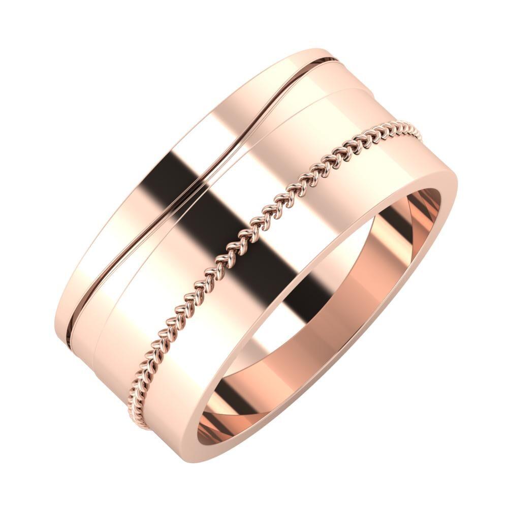 Adelinda - Áfonya 9mm 18 karátos rosé arany karikagyűrű