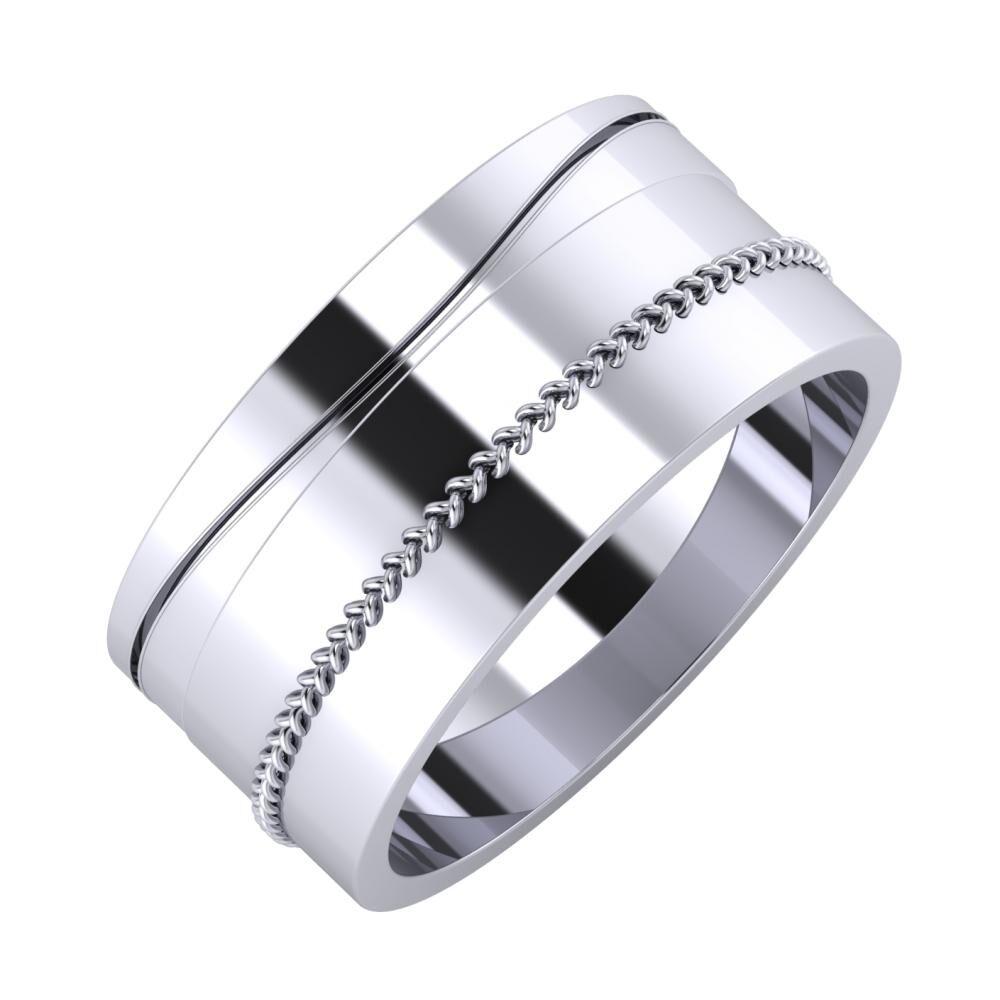 Adelinda - Áfonya 9mm platina karikagyűrű