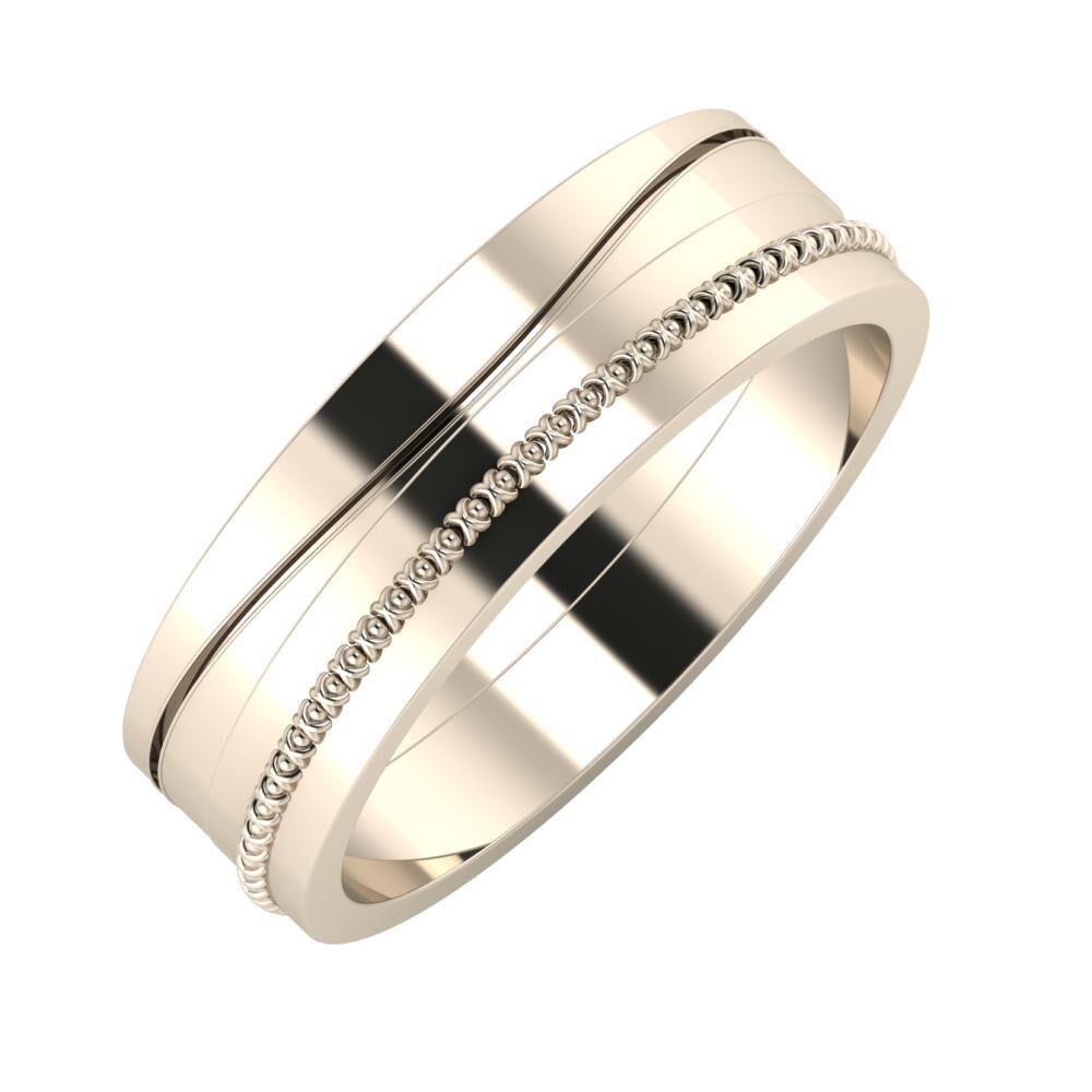 Adelinda - Afrodita 6mm 22 karátos rosé arany karikagyűrű