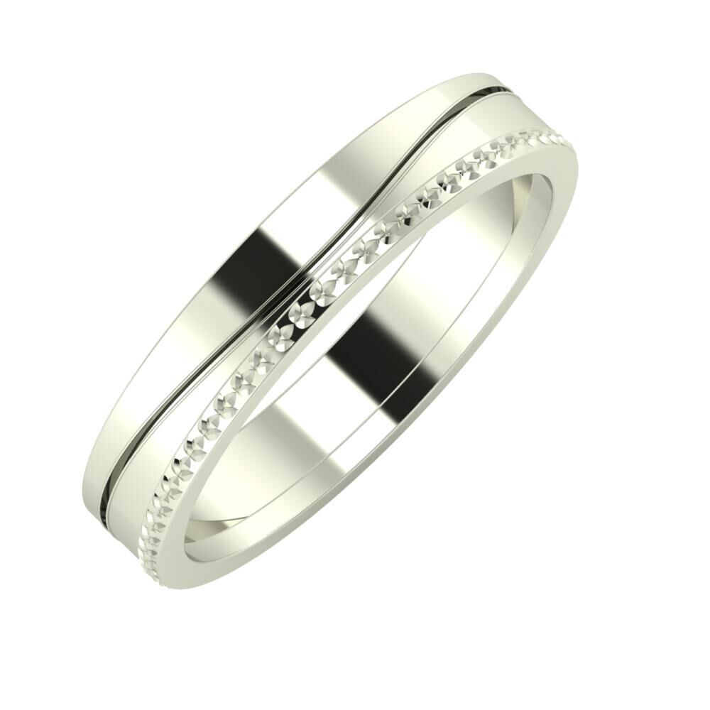 Adelinda - Ági 4mm 14 karátos fehér arany karikagyűrű
