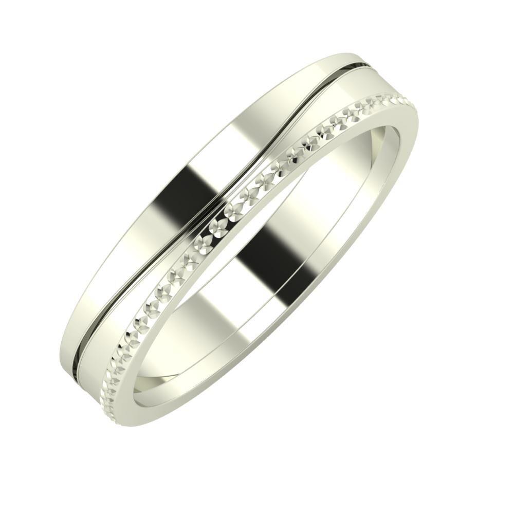 Adelinda - Ági 4mm 18 karátos fehér arany karikagyűrű