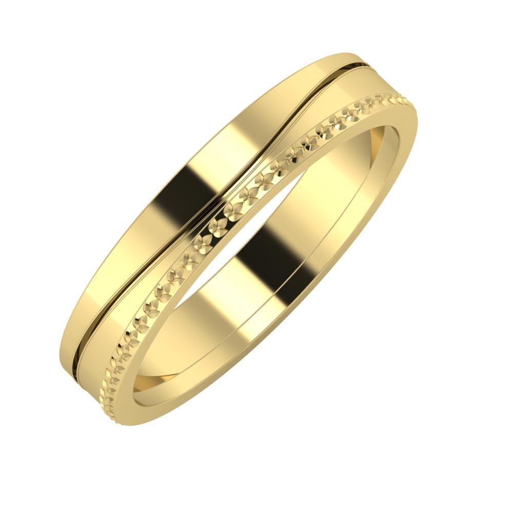 Adelinda - Ági 4mm 14 karátos sárga arany karikagyűrű