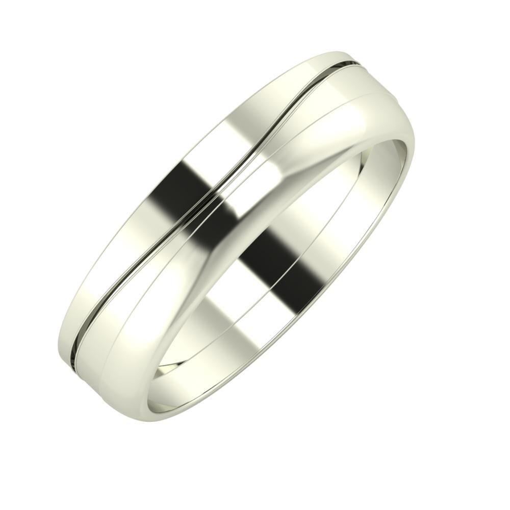 Adelinda - Ágosta 5mm 18 karátos fehér arany karikagyűrű