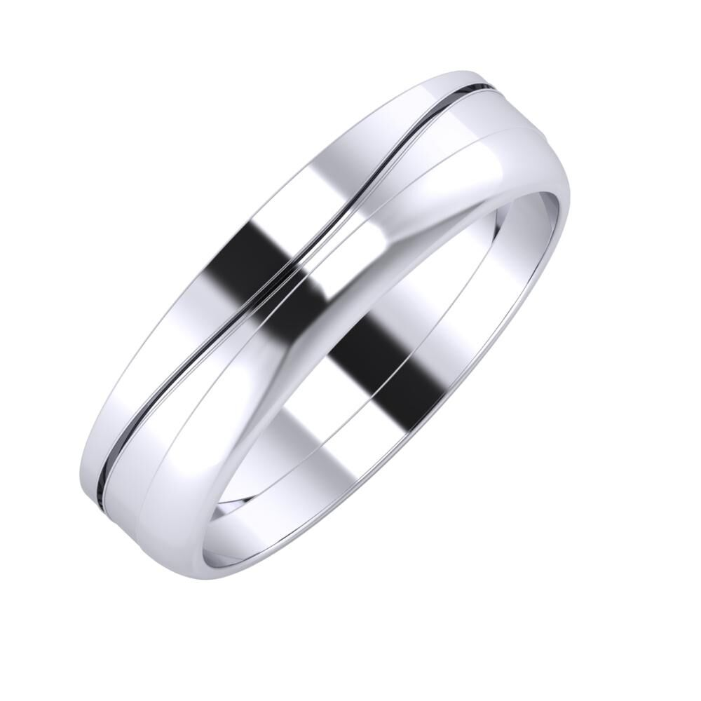 Adelinda - Ágosta 5mm platina karikagyűrű