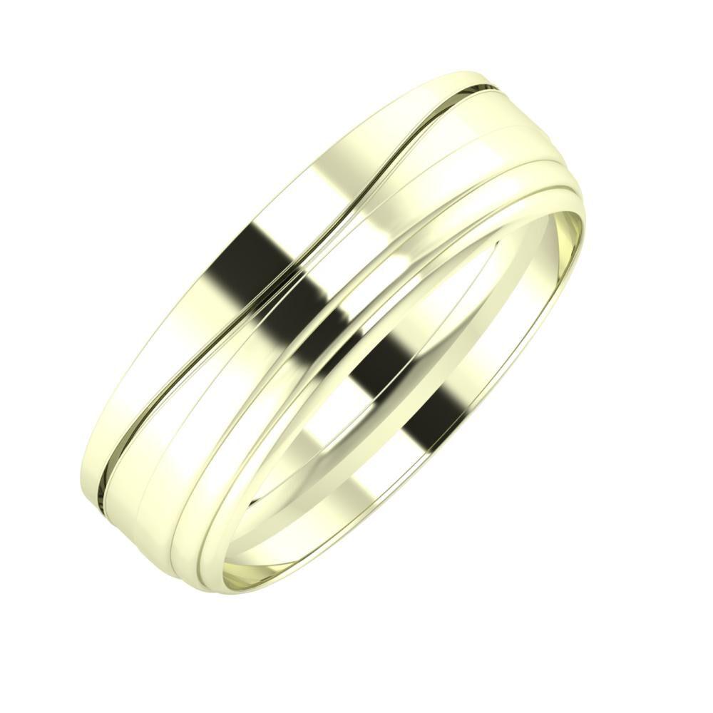Adelinda - Aina 6mm 22 karátos fehér arany karikagyűrű