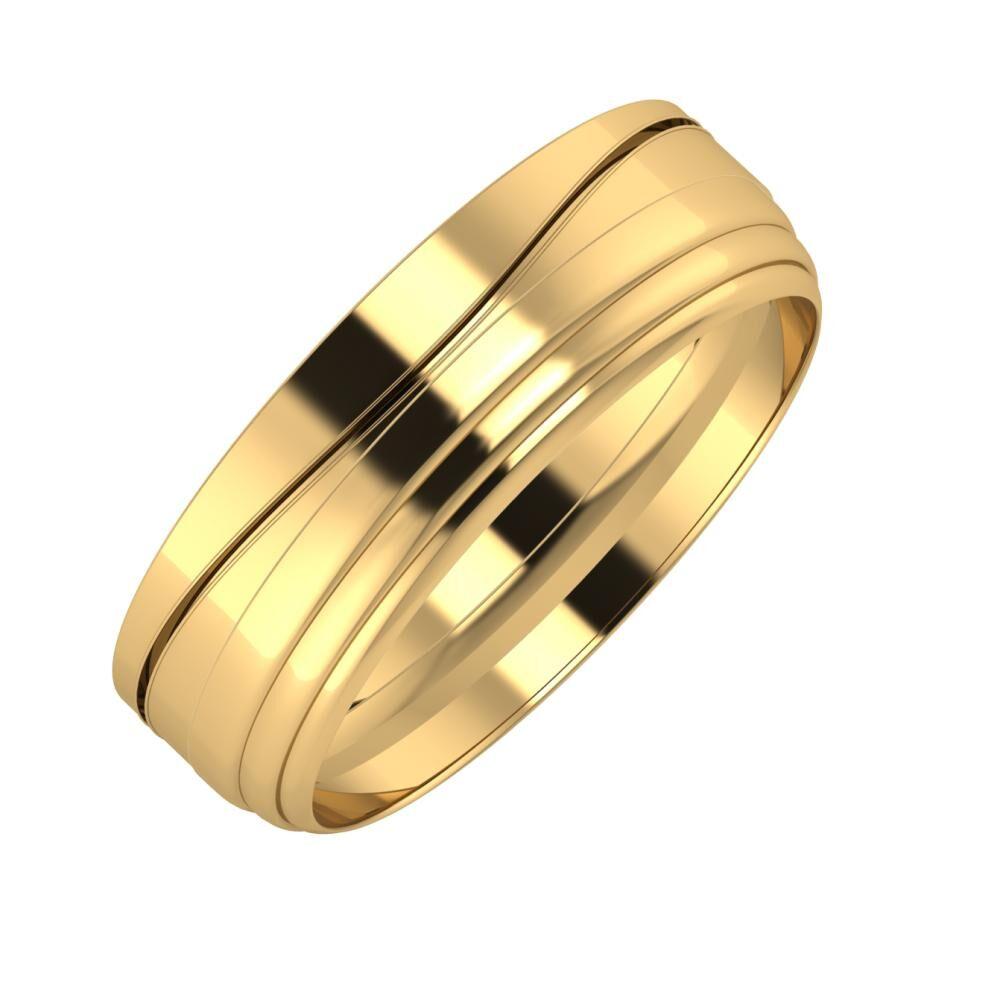 Adelinda - Aina 6mm 22 karátos sárga arany karikagyűrű