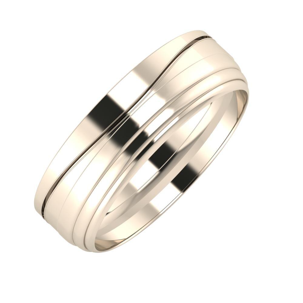 Adelinda - Aina 6mm 22 karátos rosé arany karikagyűrű