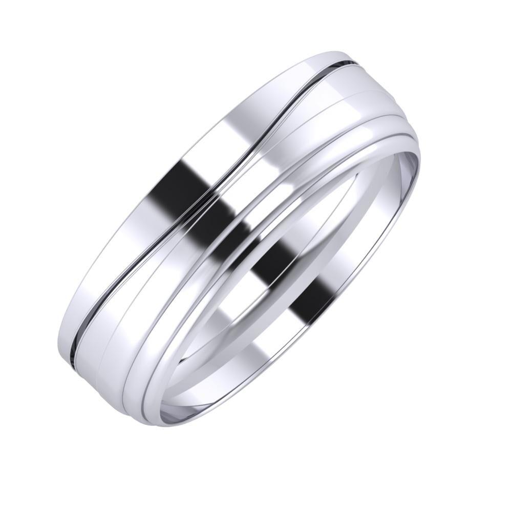 Adelinda - Aina 6mm platina karikagyűrű