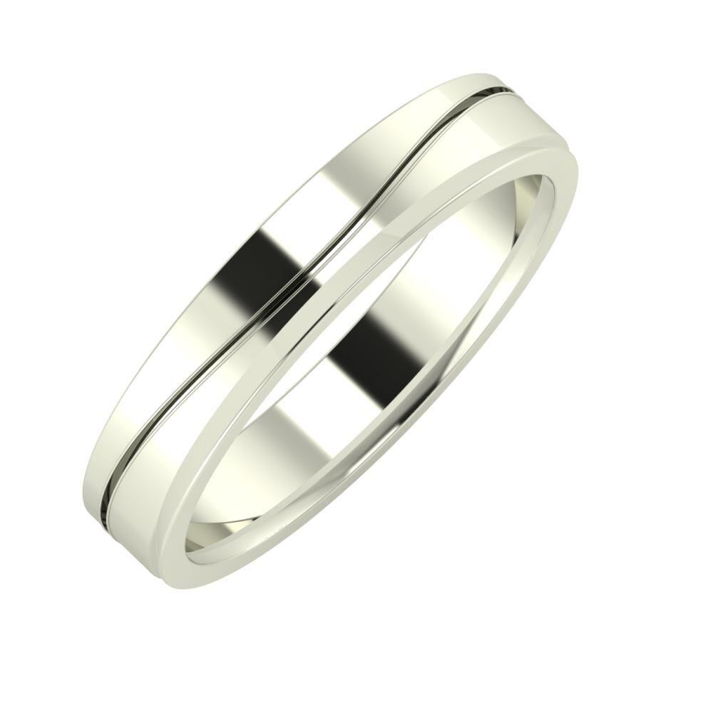 Adelinda - Aisa 4mm 14 karátos fehér arany karikagyűrű
