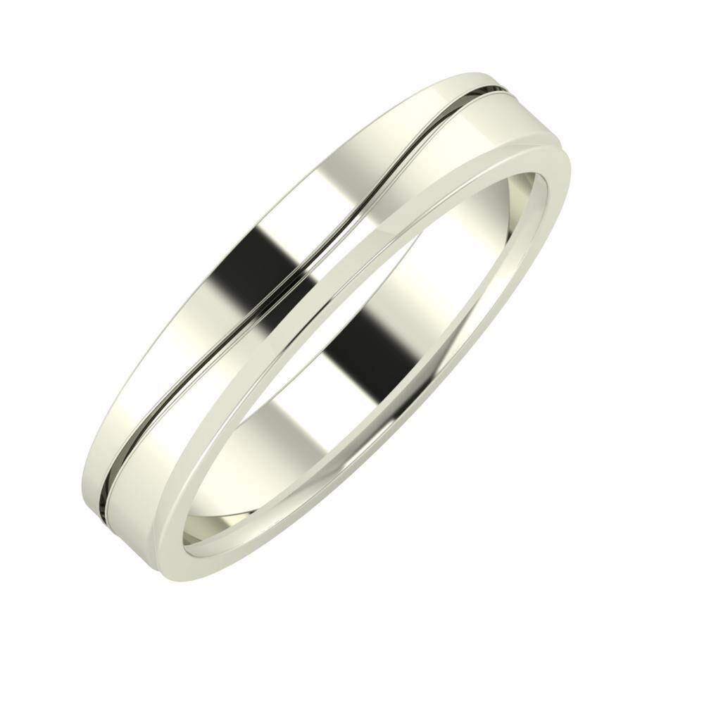 Adelinda - Aisa 4mm 18 karátos fehér arany karikagyűrű