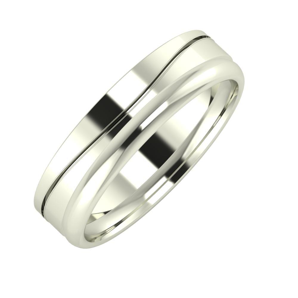 Adelinda - Alexa 5mm 14 karátos fehér arany karikagyűrű