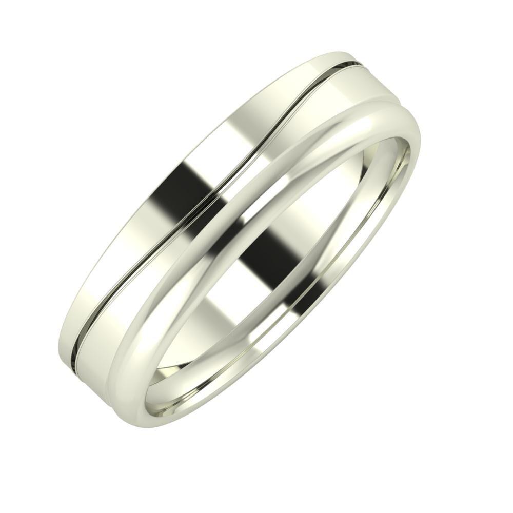 Adelinda - Alexa 5mm 18 karátos fehér arany karikagyűrű