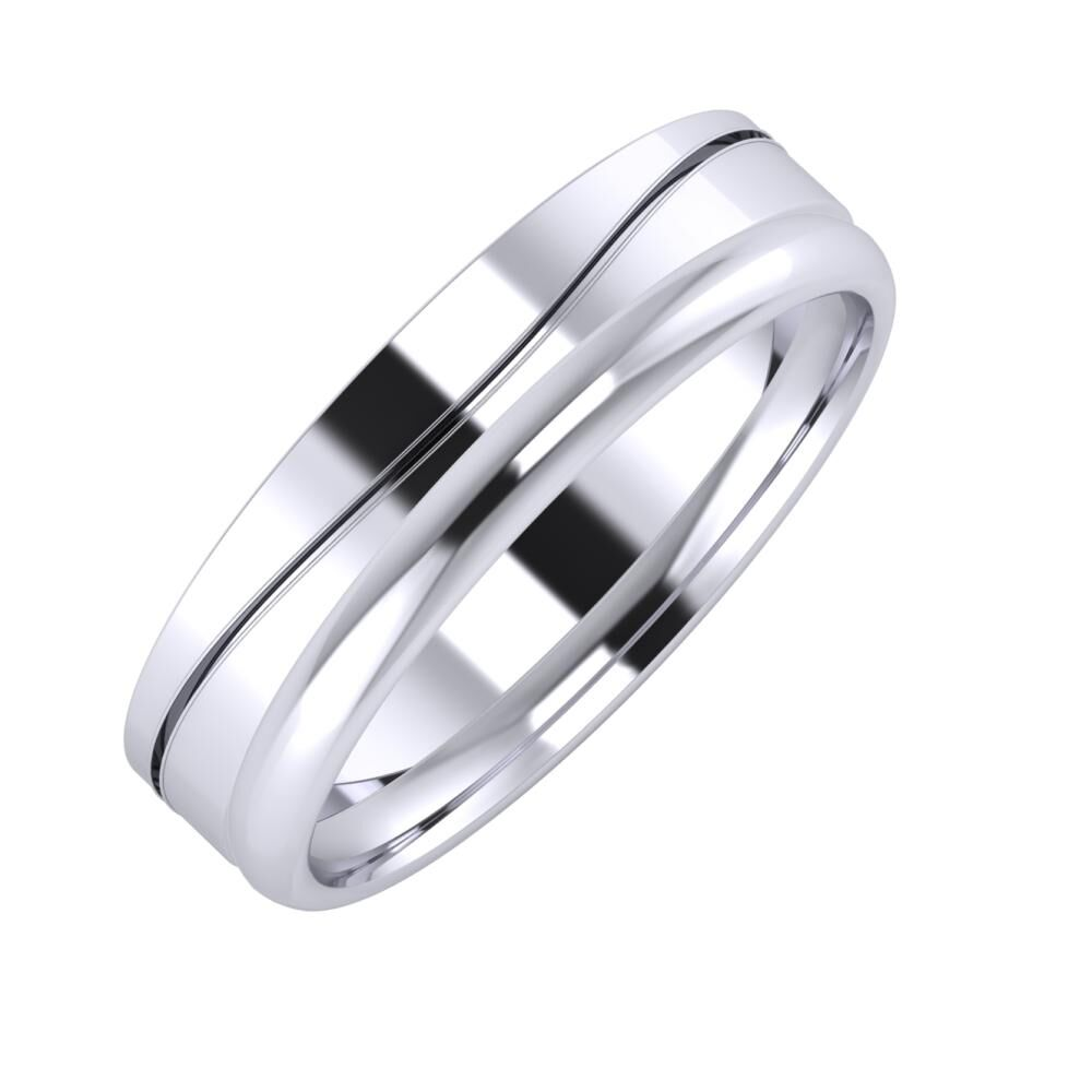 Adelinda - Alexa 5mm platina karikagyűrű