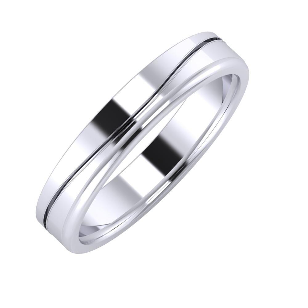 Adelinda - Alexandra 4mm platina karikagyűrű