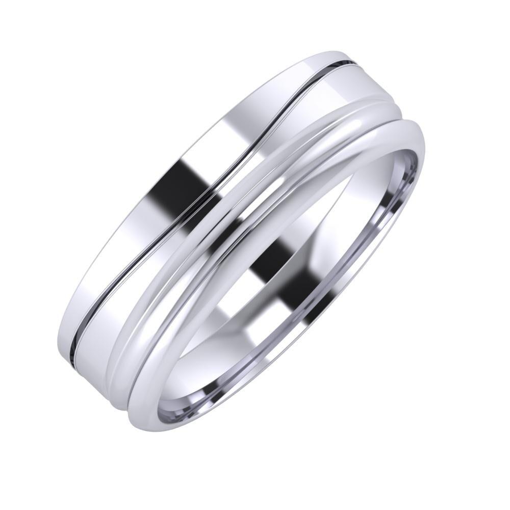 Adelinda - Alexandrin 6mm platina karikagyűrű