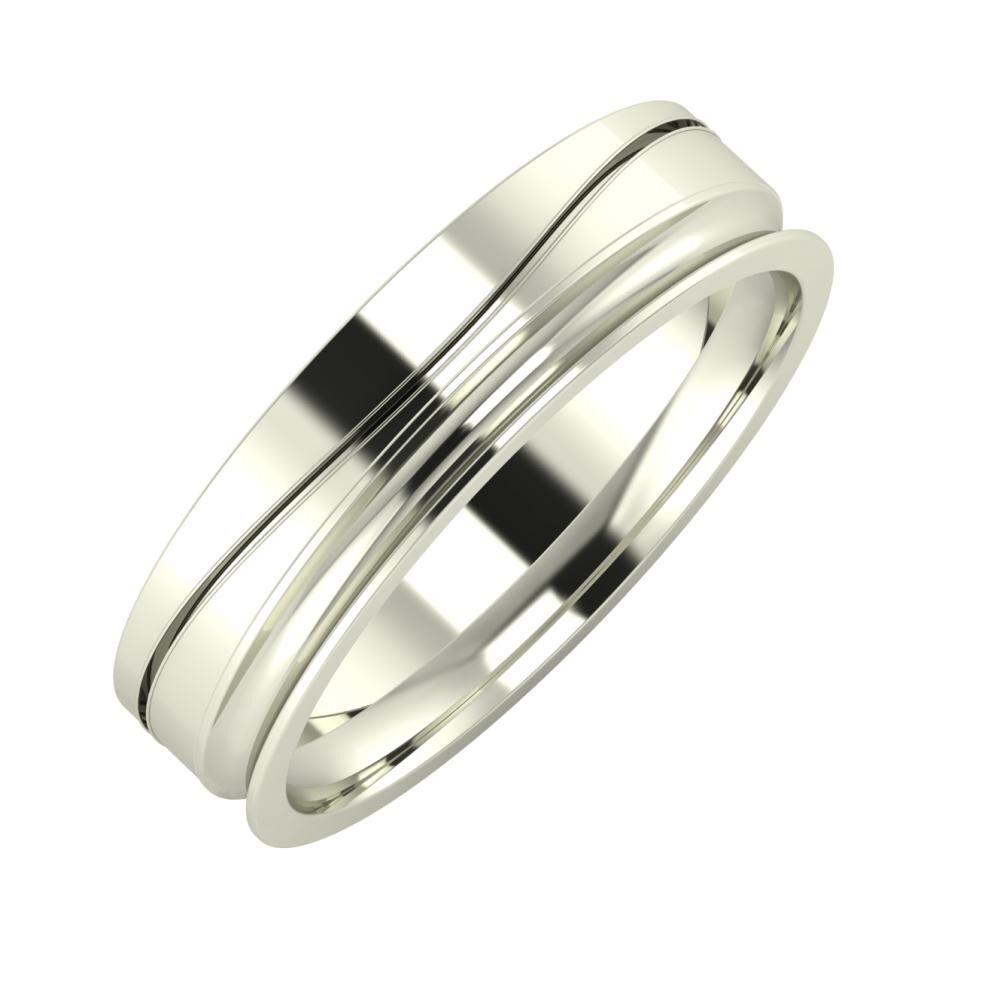 Adelinda - Alexandrina 5mm 14 karátos fehér arany karikagyűrű