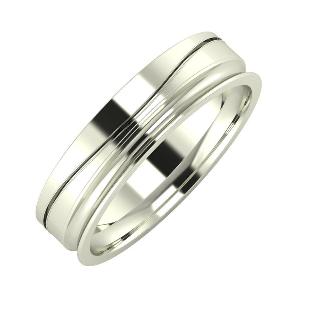 Adelinda - Alexandrina 5mm 18 karátos fehér arany karikagyűrű