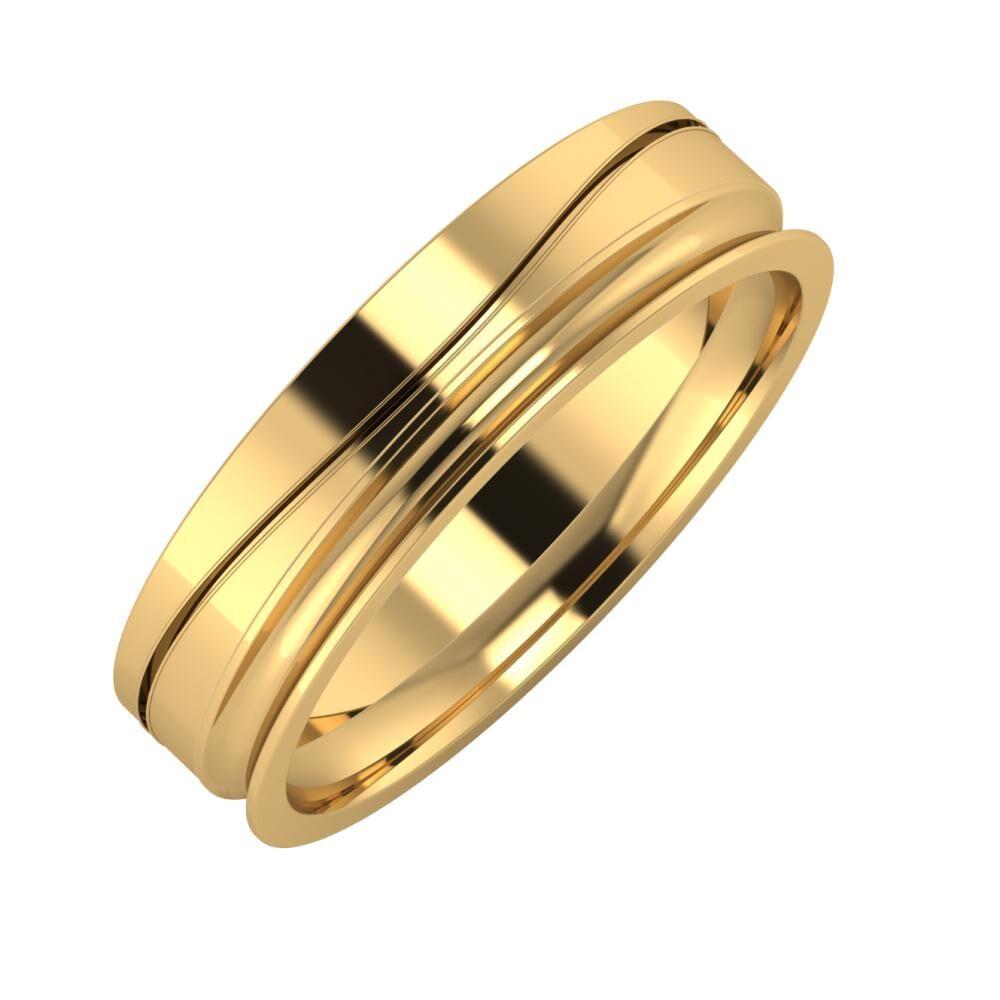 Adelinda - Alexandrina 5mm 22 karátos sárga arany karikagyűrű