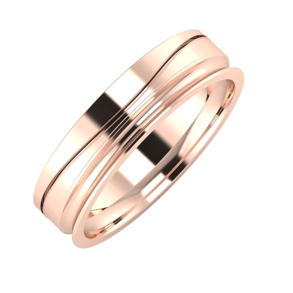 Adelinda - Alexandrina 5mm 18 karátos rosé arany karikagyűrű