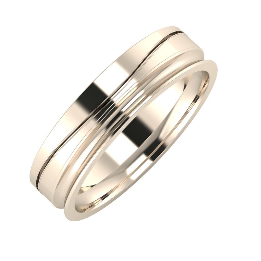 Adelinda - Alexandrina 5mm 22 karátos rosé arany karikagyűrű